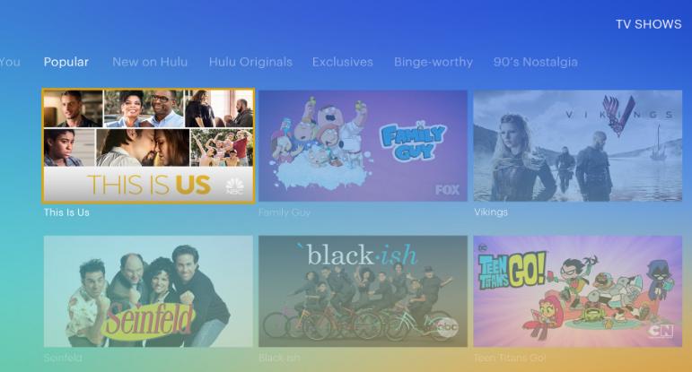 Hulu webOS