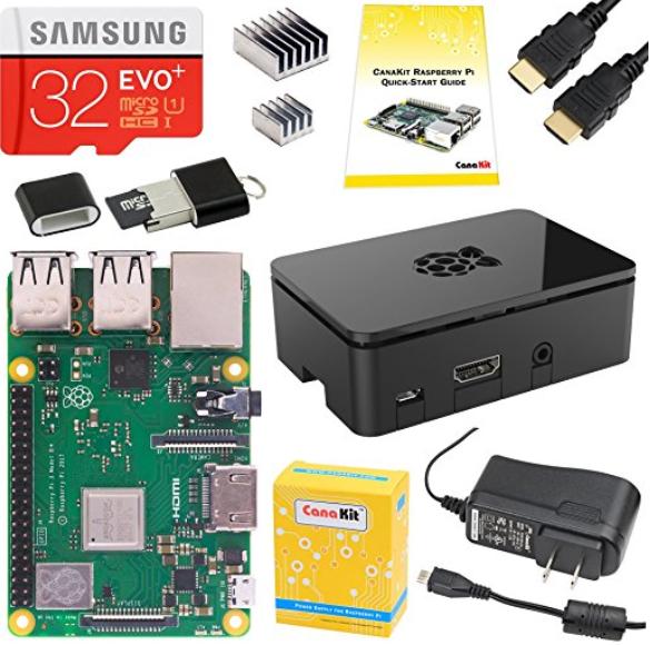 CanaKit Raspberry Pi 3 B  (B Plus) Starter Kit (32 GB EVO  Edition, Premium Black Case)