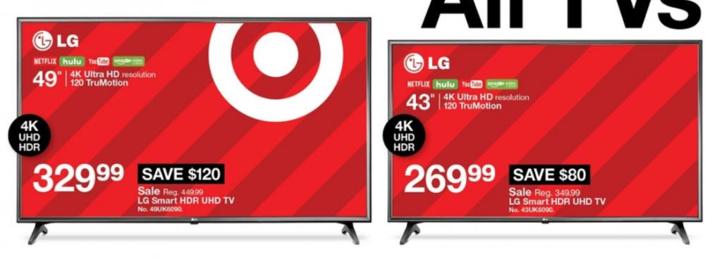 black friday target lg tvs