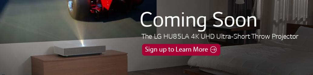LG HU85LA 4K UHD Ultra-Short Throw Projector - LG webOS