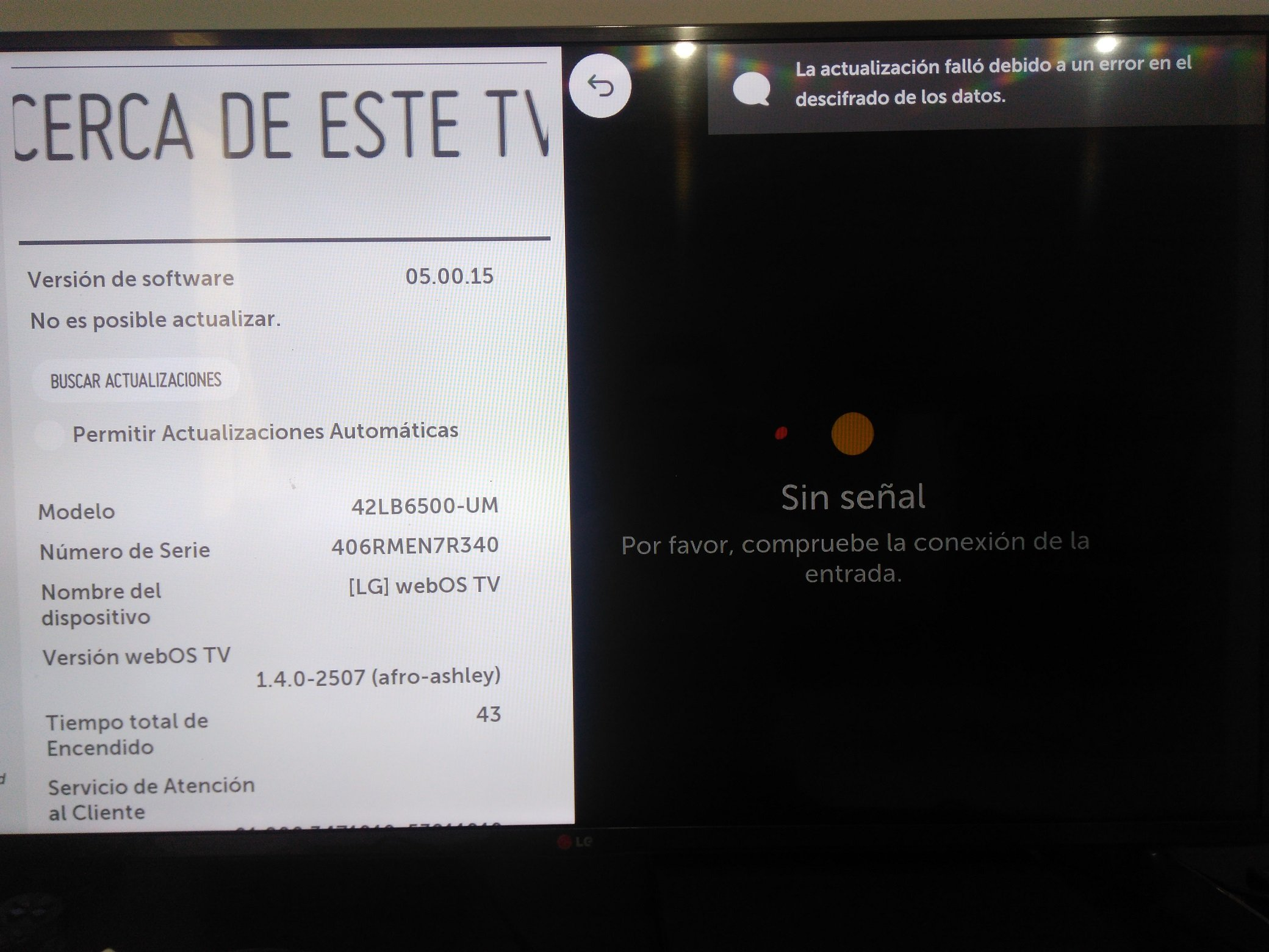 Install the correct firmware on my TV - LG webOS Smart TV Questions
