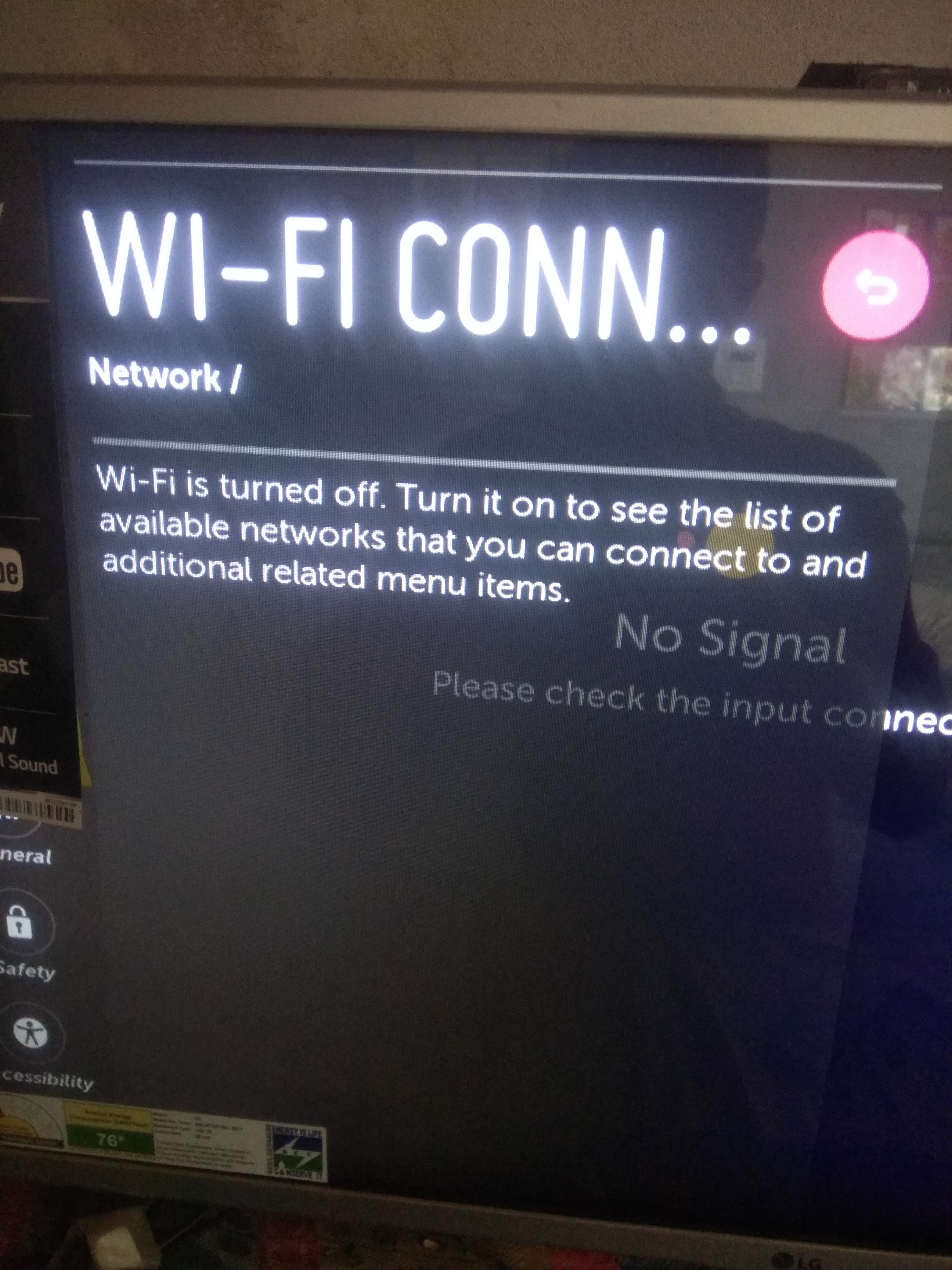 WiFi turned off issue - LG webOS Smart TV Questions - LG webOS
